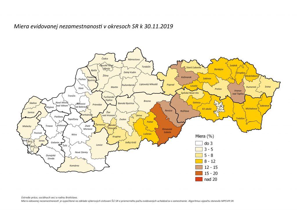 Prehľad Nezamestnanosti V Okresoch SR